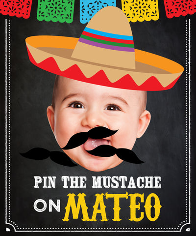 Fiesta Pin the Mustache Game