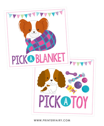 Pick a Blanket + Pick a Toy Signs