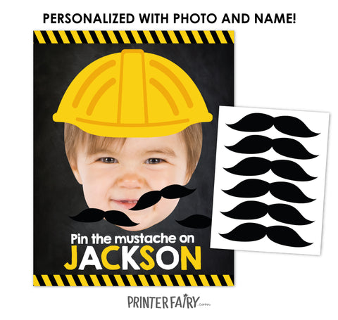 Construction Pin the Mustache Game