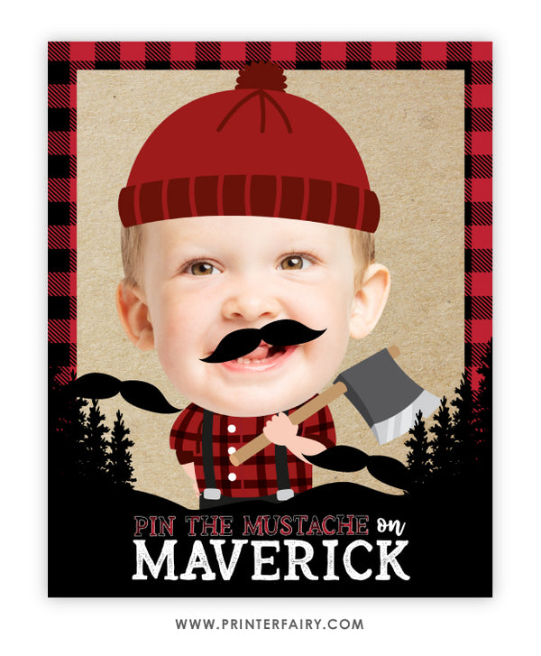 Lumberjack Pin the Mustache Game