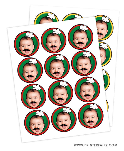 Pizza Party Toppers with Photo