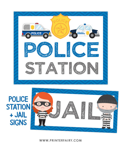 Police Station and Jail Signs