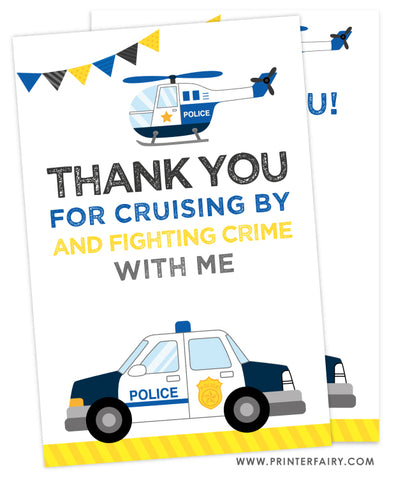 Police Thank You Cards