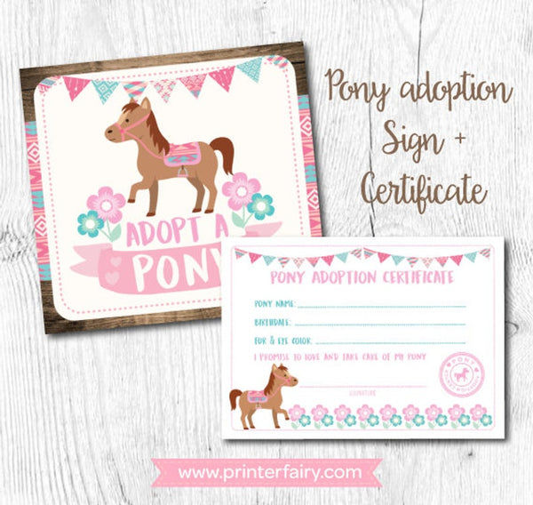 Pony Adoption Set