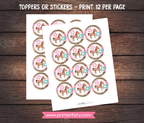 Pony Printable Toppers