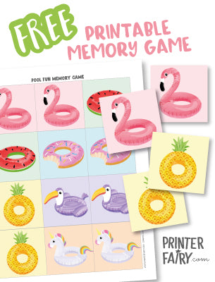 Pool Fun Memory Game