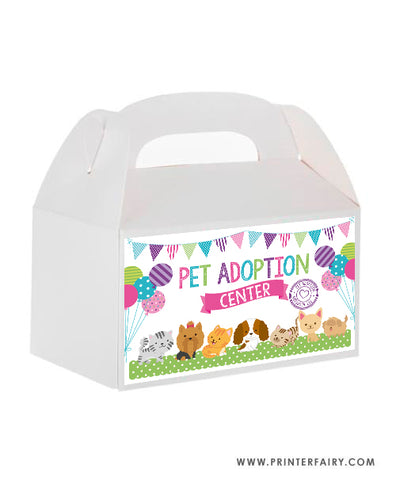 Puppies & Kitties Box Carrier Label