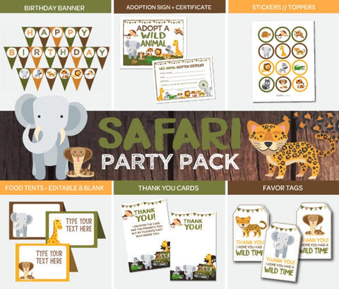Safari Party Pack