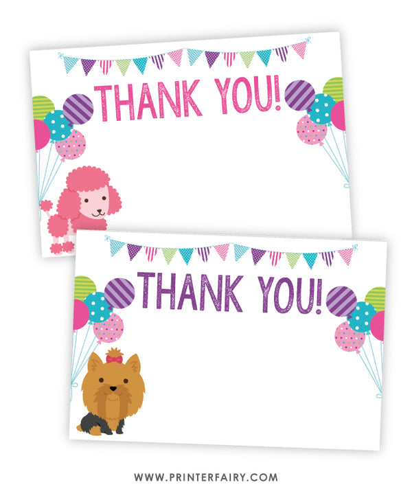 Puppy Party Thank You Cards