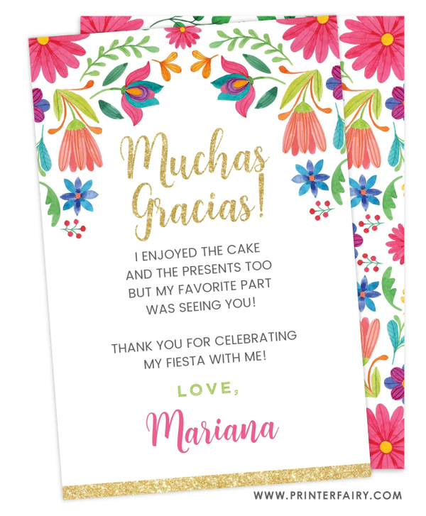 Fiesta Floral Thank You Card
