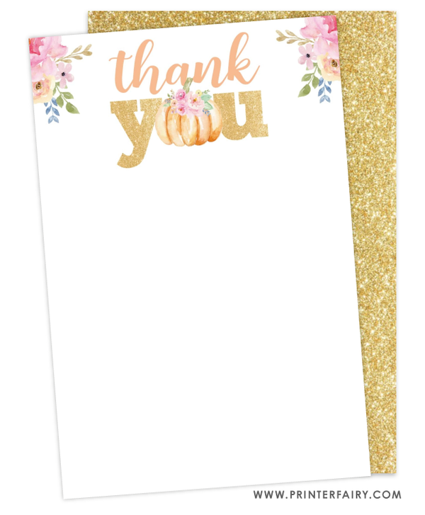 Litte Pumpkin Thank You Card