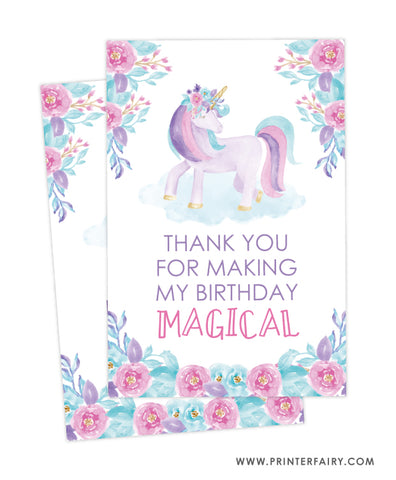 Unicorn Favor Tags