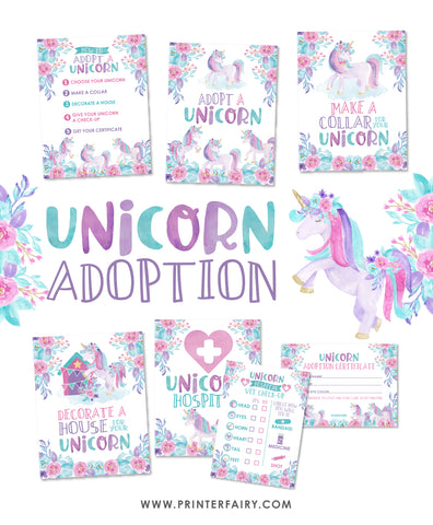 Unicorn Adoption Center Package