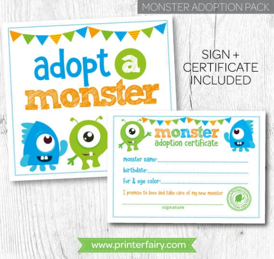 Adopt a Monster Set