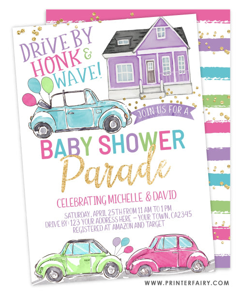 Baby Shower Parade Invitation