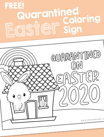 Quarantine Easter Coloring Sign