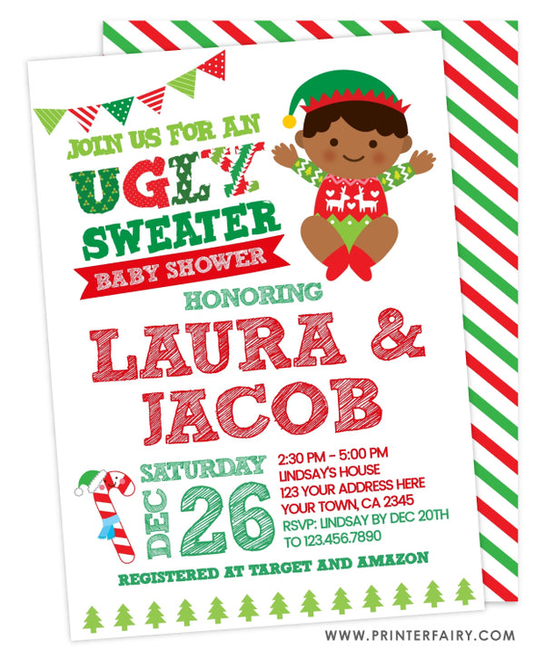 Ugly Sweater Baby Shower Invitation