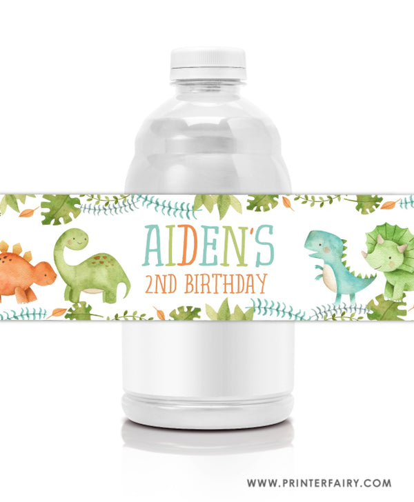 Dinosaur Water Bottle Label