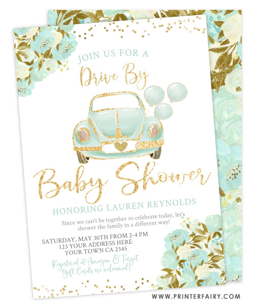 Drive By Baby Shower Parade