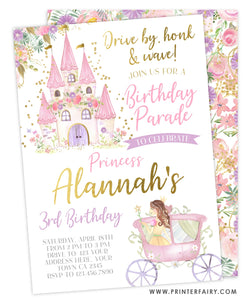 Drive By Princess Invitation Floral
