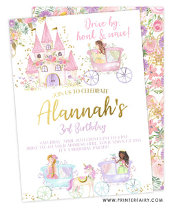 Drive By Princess Invitation