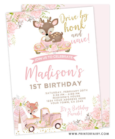 Drive By Woodland Invitation
