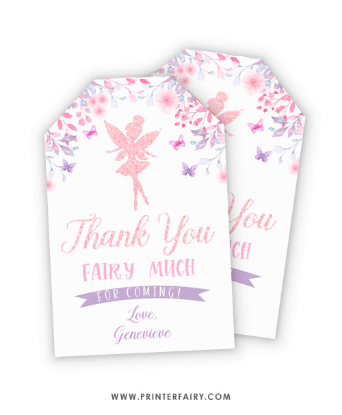 Fairies Favor Tags