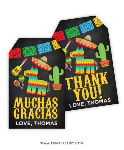 Fiesta Favor Tags