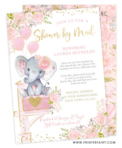 Floral Elephant Shower by Mail