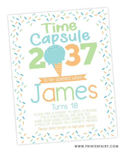 Ice Cream Time Capsule