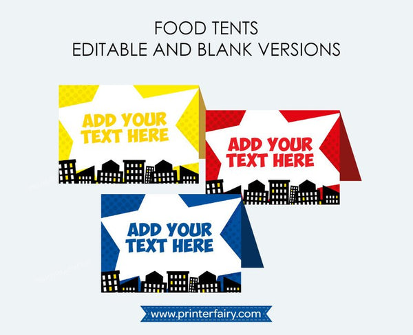 Superhero Food Tents