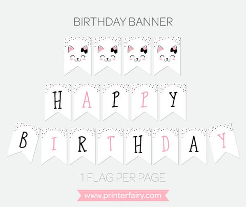 Kitty Cat Printable Banner