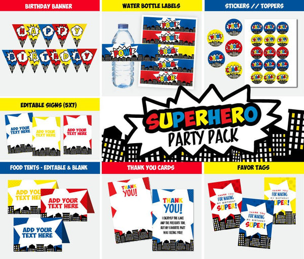 Superhero Party Pack