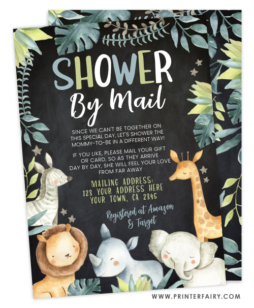 Jungle Shower by Mail Invitation