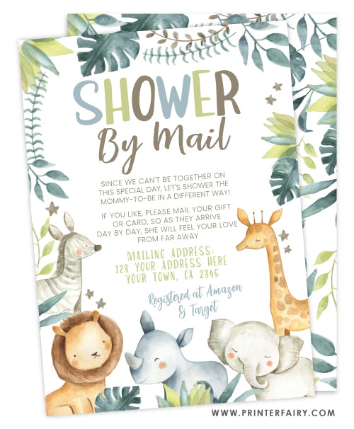 Safari Shower by Mail