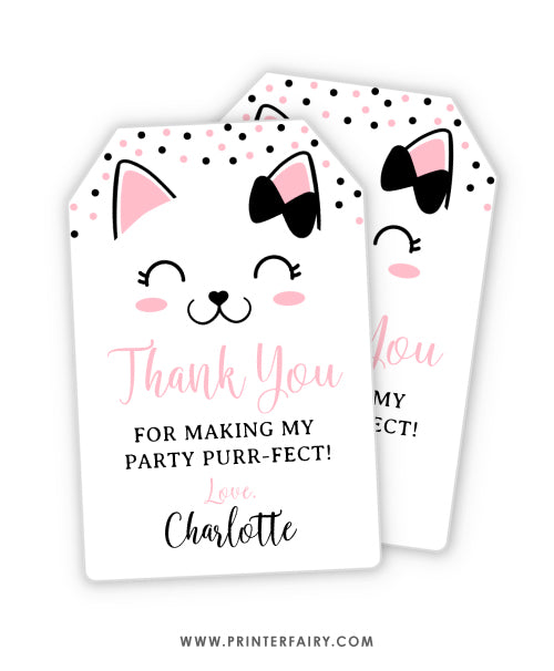 Kitty Cat Favor Tag