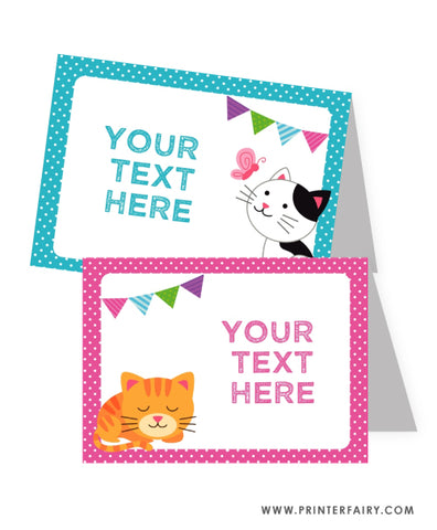 Kitty Cat Food Tents