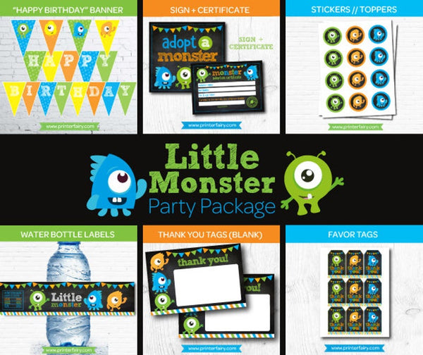Little Monster Party Pack