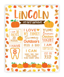 Little Pumpkin Birthday Board