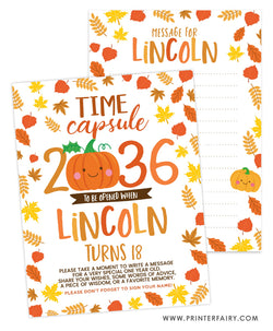 Little Pumpkin Time Capsule