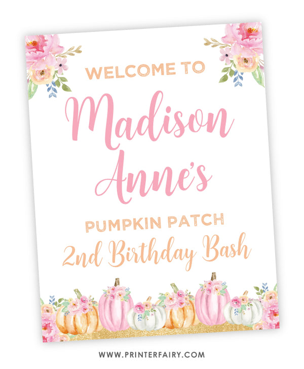 Little Pumpkin Welcome Sign