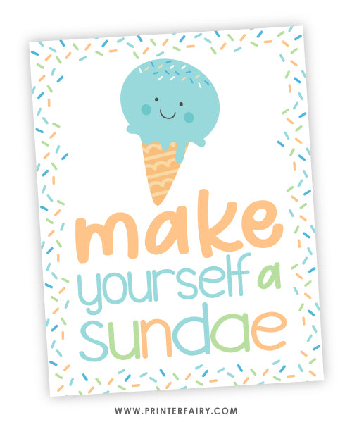 Make Yourself a Sundae Sign