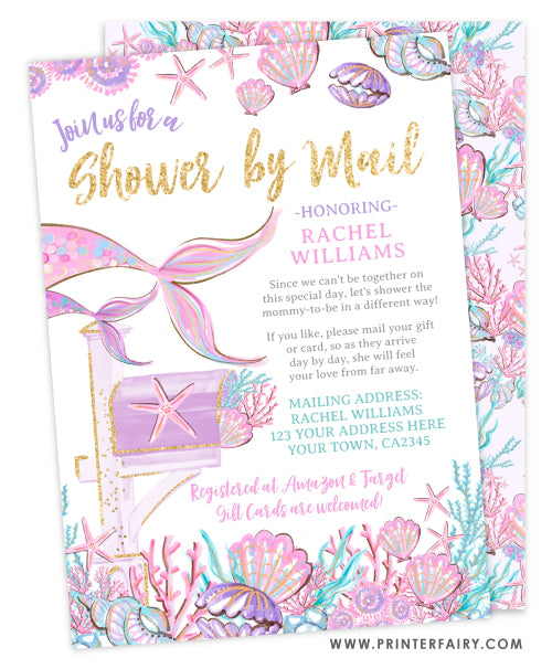 Mermaid Shower by Mail