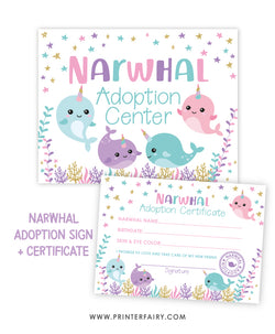 Narwhal Adoption Pack