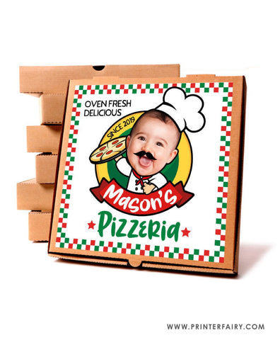 Pizza Box Label with Photo
