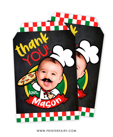 Pizza Favor Tags with Photo