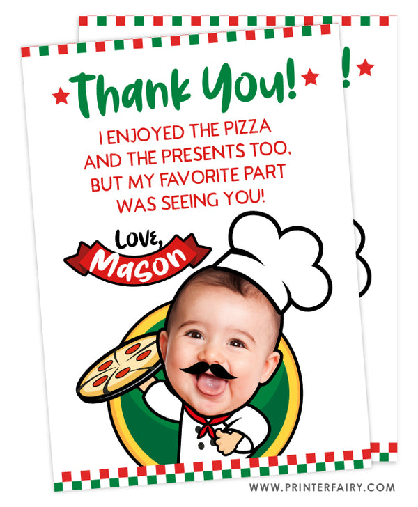 Pizza Thank You Card with Photo