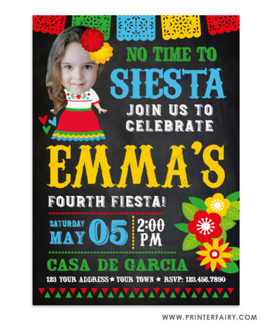 Señorita Fiesta Invitation with Photo