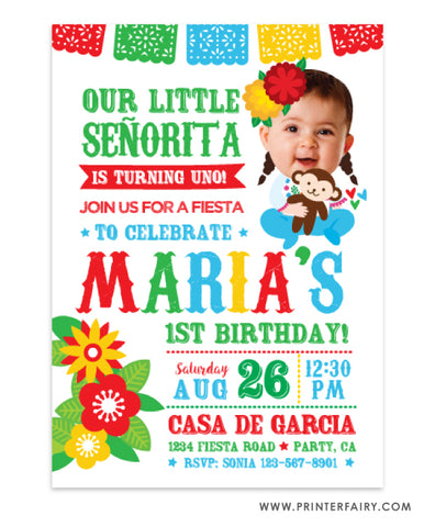 Little Señorita Invitation with Photo