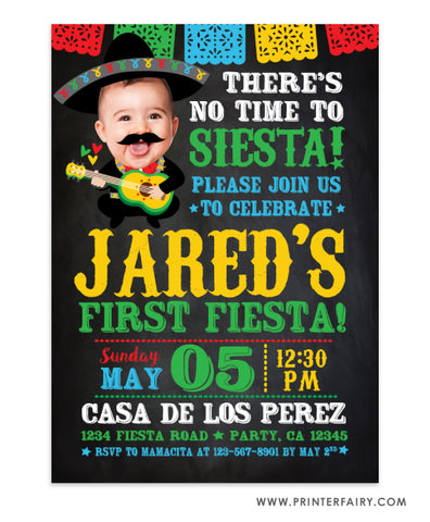 Baby Mariachi Fiesta Invitation with Photo